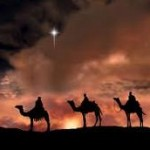 Three wise men follow the star