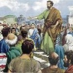 Apostle Paul preaching